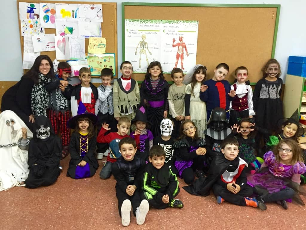 Children in Spain prefer to dress up as zombies, ghosts and vampires for Halloween.
