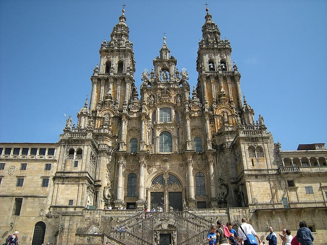 The Cathedral of Santiago Compostela marks the end of many pilgrims' jounrey.