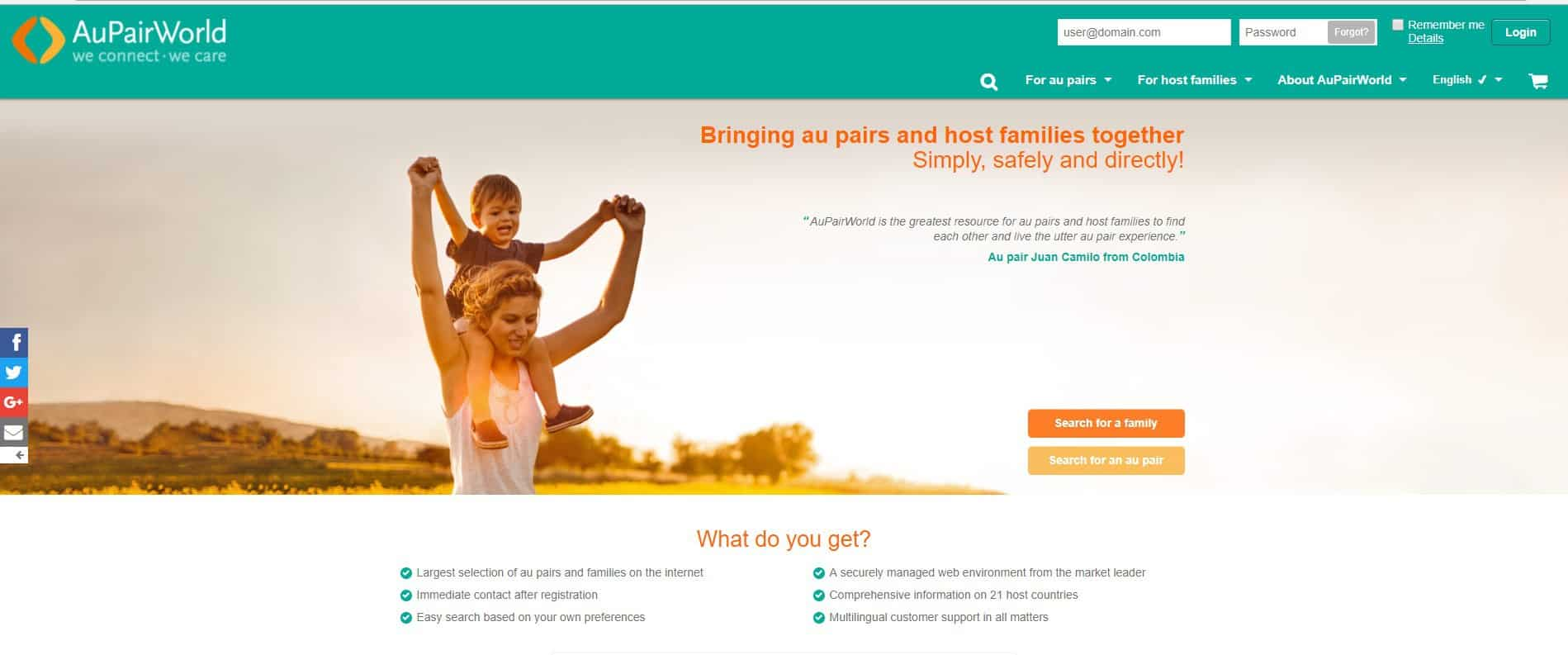 Want to know how to become an au pair in Spain? Use Au Pair World to find your au pair host family.