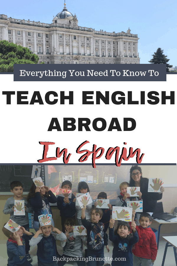 Learn you can move to Europe and teach English abroad in Spain! Everything you need to know to teach English in Spain!