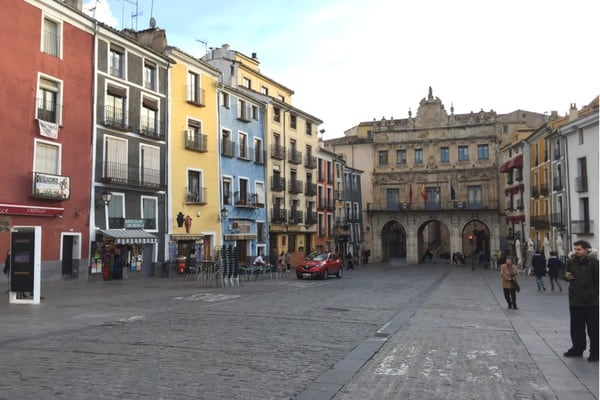 Cuenca's colorful Plaza Mayor is worth a stroll. Here are some great tips and recommendations for things to do in Cuenca, Spain!