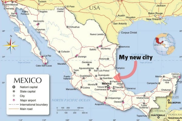 Check out the map to see where Queretaro Mexico is!