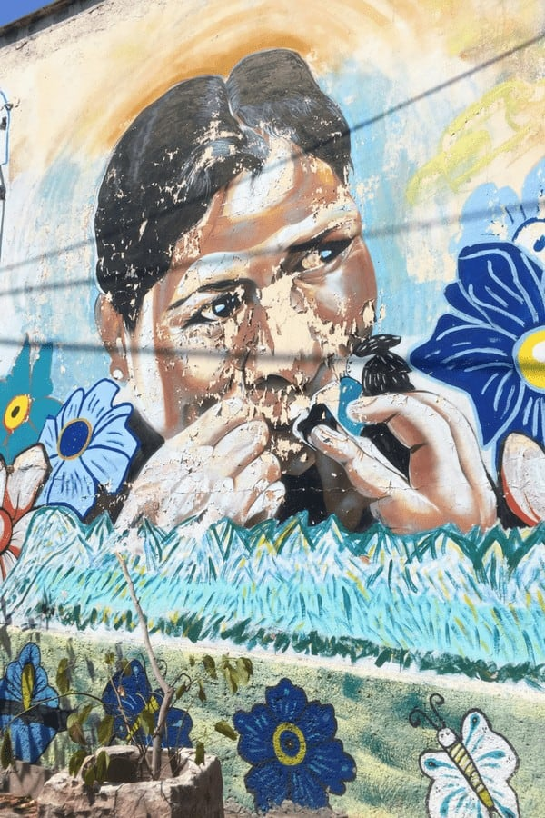 The incredible street art is another reason to visit Queretaro, Mexico!