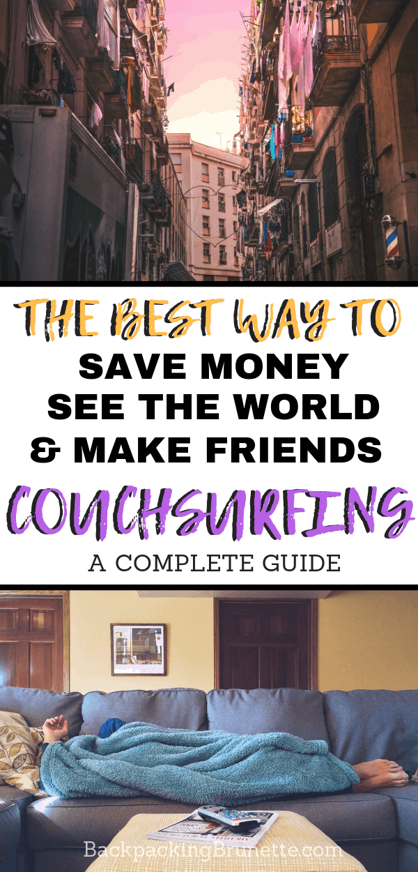 One of the ultimate travel hacks is Couchsurfing! Not only is it great for budget travel, but Couchsurfing is also an awesome way to make friends and get off the beaten path when traveling. This guide has everything you need to know about Couchsurfing hosting, surfing and making a Couchsurfing profile. Get the best Couchsurfing tips for a solo female traveler backpacking Europe!