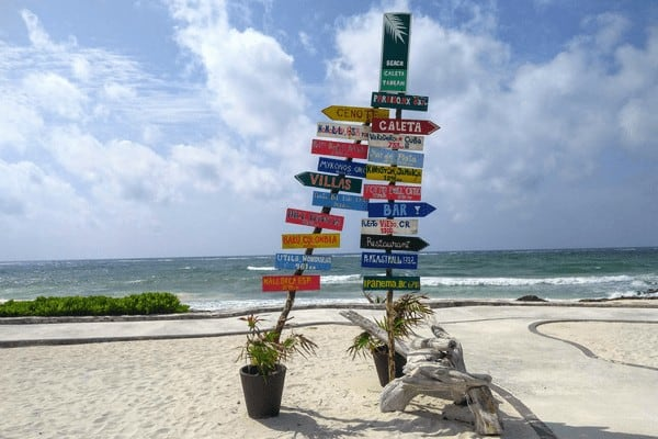 Visit Tulum on a budget and spend the day at the Caleta Tankah resort.