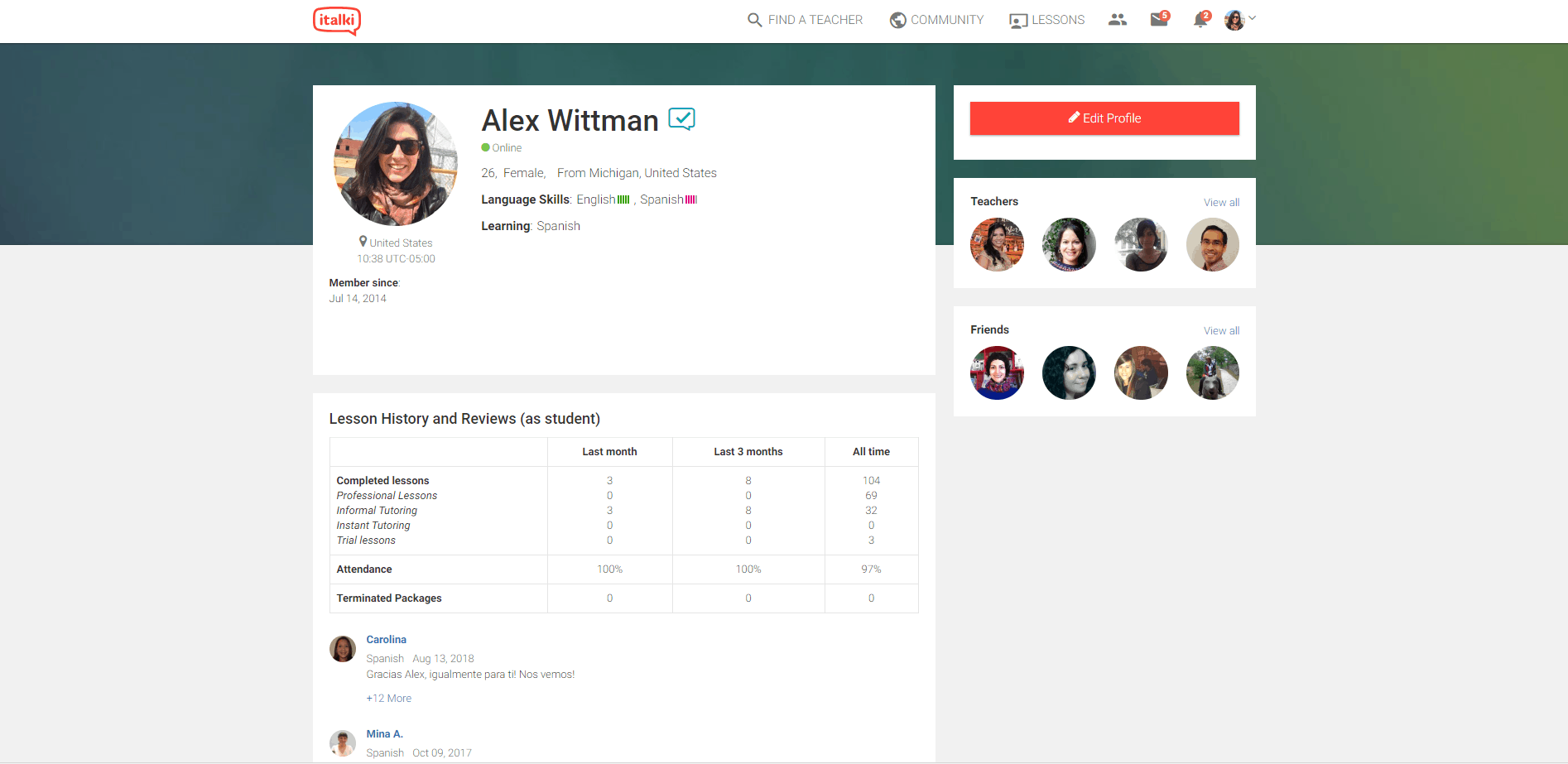 Set up an italki profile and learn a language online today!