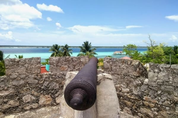 From Fort San Felipe, you'll see when Bacalar is one of the best hidden places in Mexico!