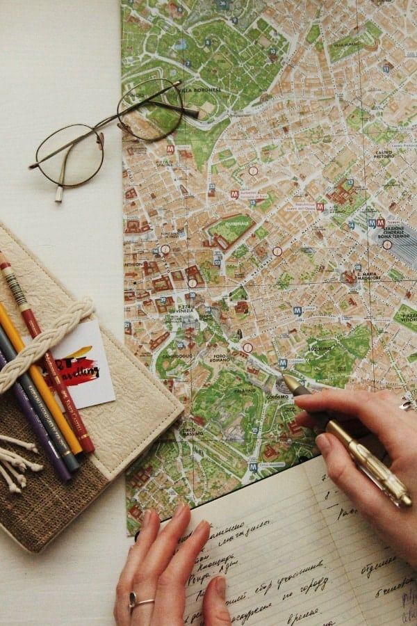 Wondering how to get started making your backpacking Europe route? Get your hands on an old-fashioned paper map for planning your first trip to Europe!