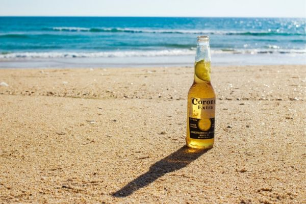 Cheap beer on the beach in Mexico.