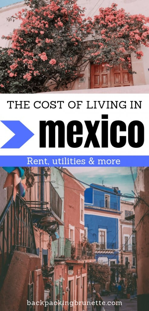 Exteriors of apartments in Mexico.