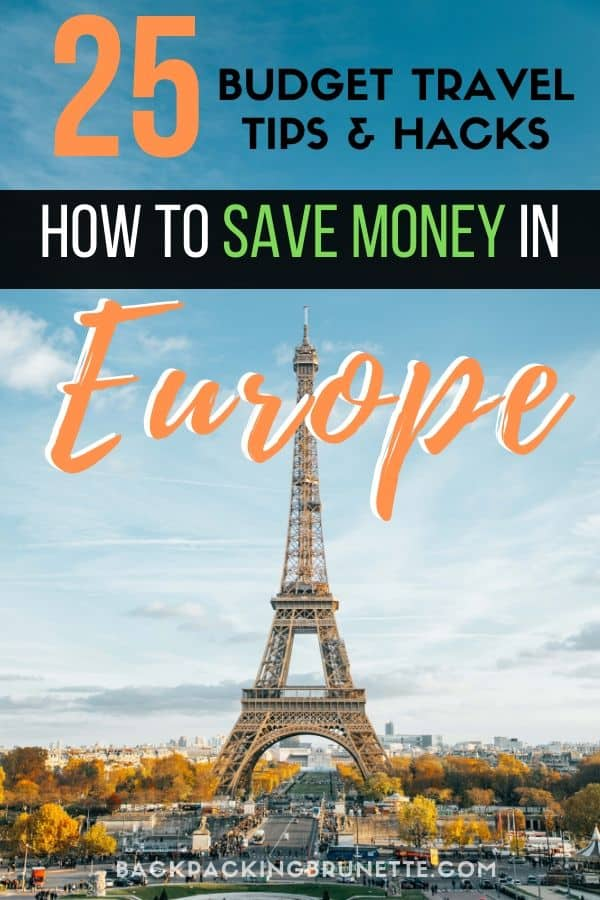 With these budget travel tips, you'll have everything you need to know to save money in Europe. From choosing cheap Europe travel destinations to backpacking Europe budget travel hacks, learn how to travel Europe cheap!