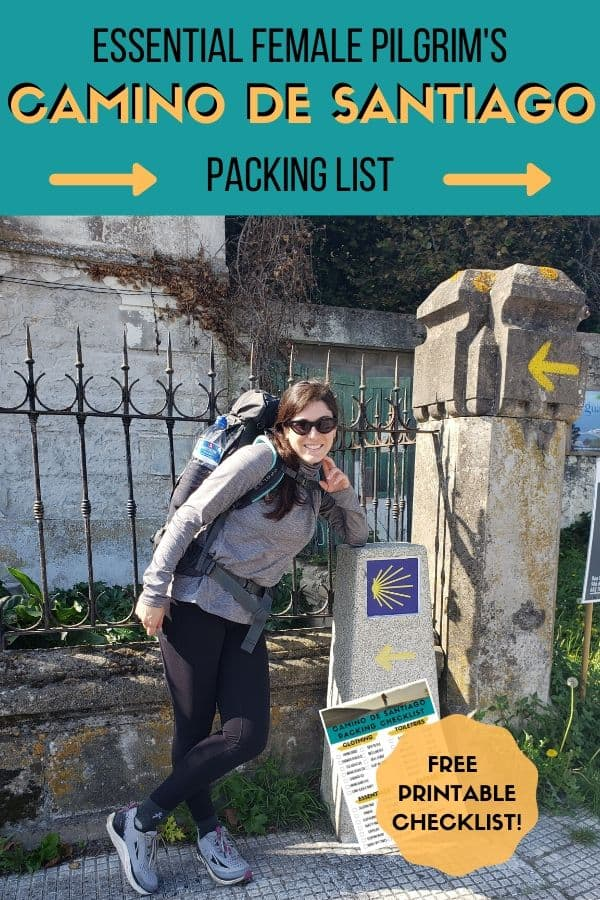 Learn everything you need to know about what to pack for the Camino de Santiago! This complete Camino packing list for women has all the essential clothes and equipment plus a free printable Camino checklist to help you pack like a pro for the Way of St. James.