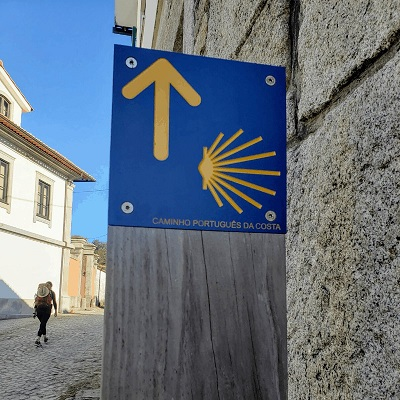 Portuguese Camino Coastal Route Stages sign